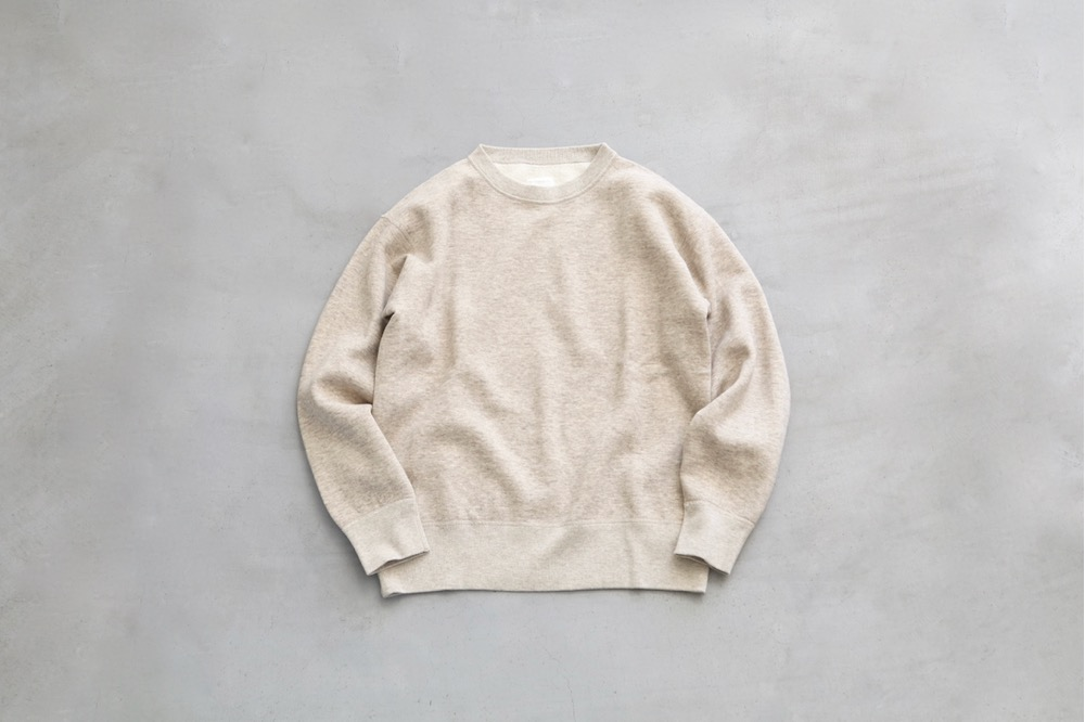"""【WOMEN'S】TOUJOURS(トゥジュー)""""Crew Neck Pullover -  BACK BRUSHED AUTHENTIC COTTON*YAK SWEAT"""""""