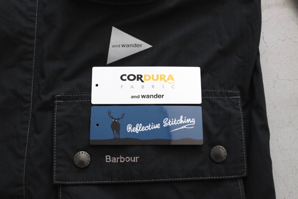 """【limited】and wander × barbour (アンドワンダー × バブアー) """"Barbour CORDURA shirt"""""""