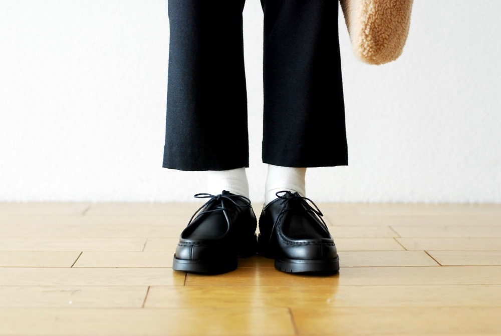"[WOMEN'S]TOUJOURS(トゥジュー)""Tapered Easy Ankle Trousers - WORSTED WOOL*SILK FLANNEL CLOTH"""