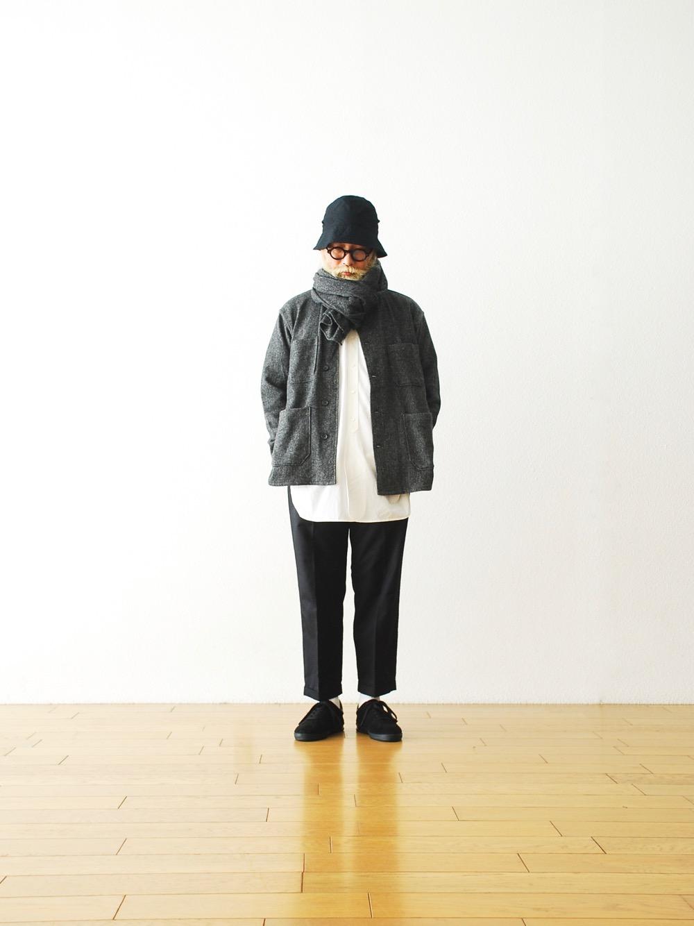 "[EXCLUSIVE / W.M 別注] Engineered Garments (エンジニアードガーメンツ) ""Button Shawl - Poly Wool HB"""