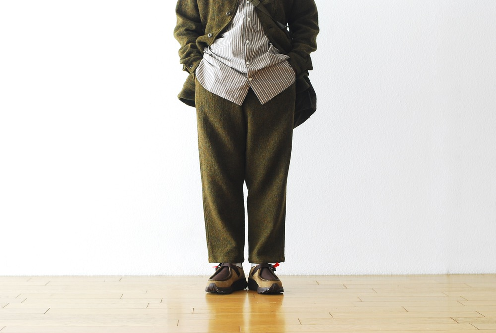 "ts(s) (ティーエスエス) ""Drawstring Pants - Tweed&Cotton*Nylon Stretch Double Cloth"""