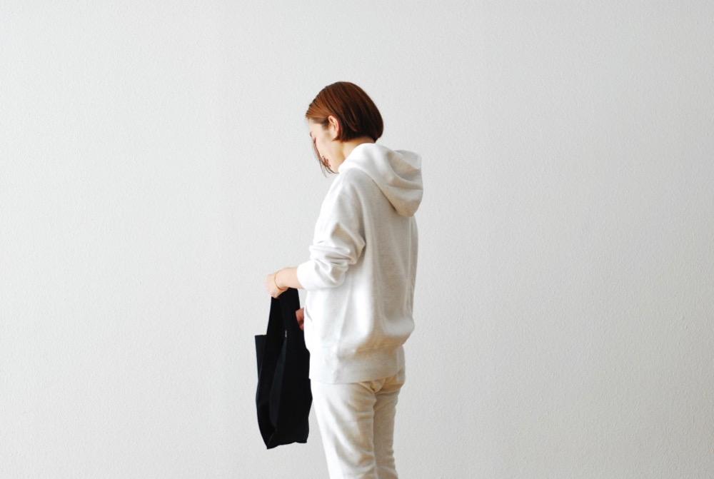 "【WOMEN'S】TOUJOURS(トゥジュー)""Parka - BACK BRUSHED AUTHENTIC COTTON SWEAT/Heather White"""