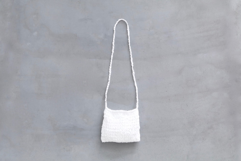 "TOUJOURS(トゥジュー) ""Pochette - Fine Cotton Tape Yarn Knit"""