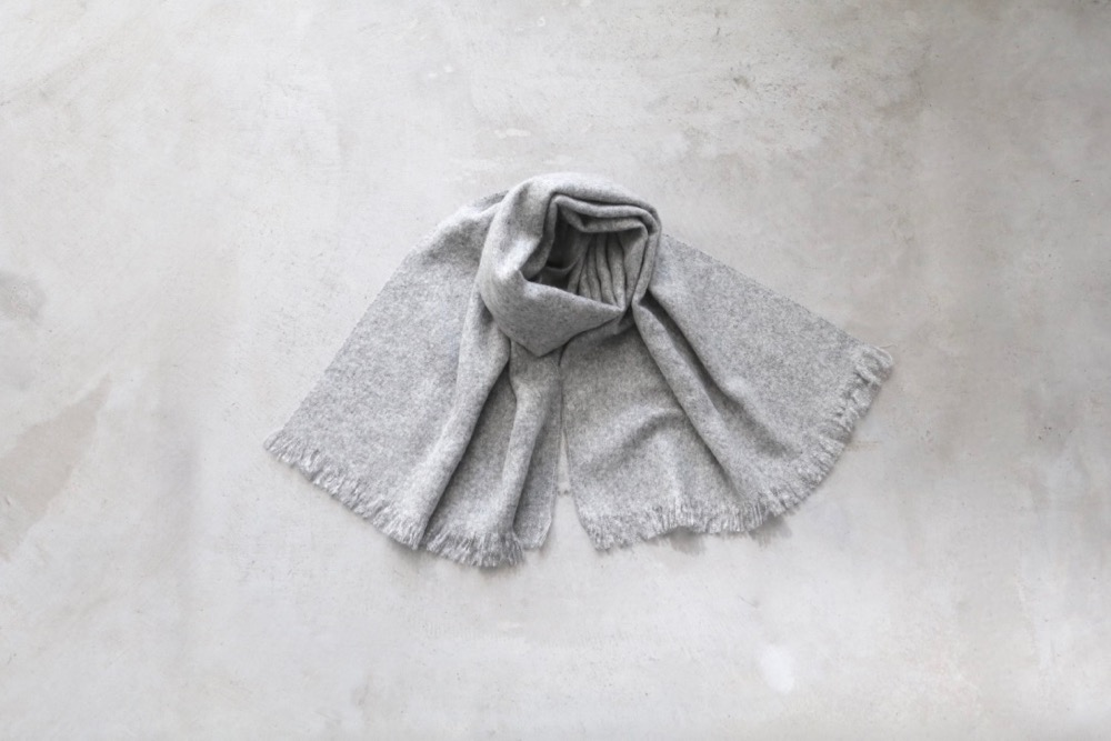 [unisex] MOHAIR STOLE  - MADE IN FRANCE -