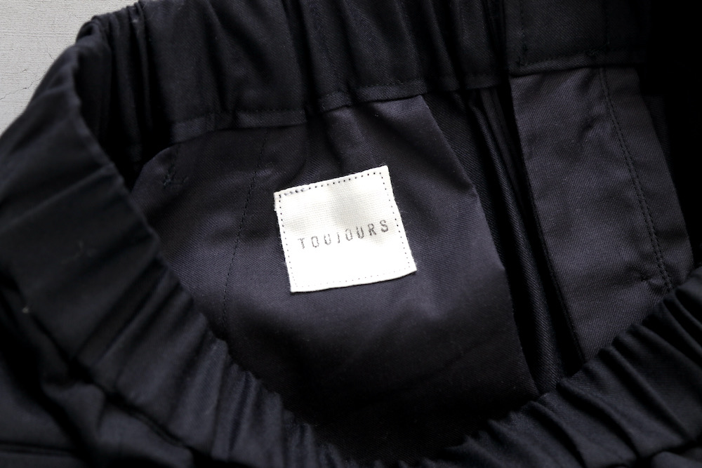 """【WOMEN'S】TOUJOURS(トゥジュー)""""Easy Trousers - SUPER 120's WORSTED WOOL FLANNEL CLOTH"""""""
