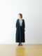 """[WOMEN'S]TOUJOURS(トゥジュー)""""Pleated Cache-coeur Dress -TWISTED YARN COTTON*LINEN CHAMBRAY CLOTH"""""""