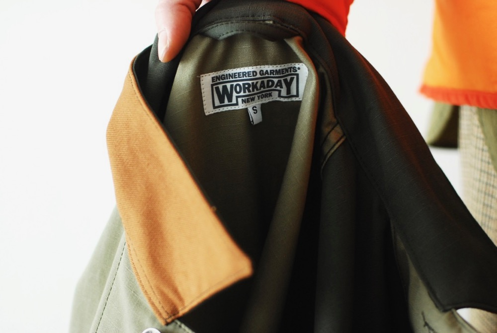 "Engineered Garments WORKADAY (エンジニアード ガーメンツ ワーカーデイ) ""UTILITY JACKET COMBO - COTTON RIPSTOP"""