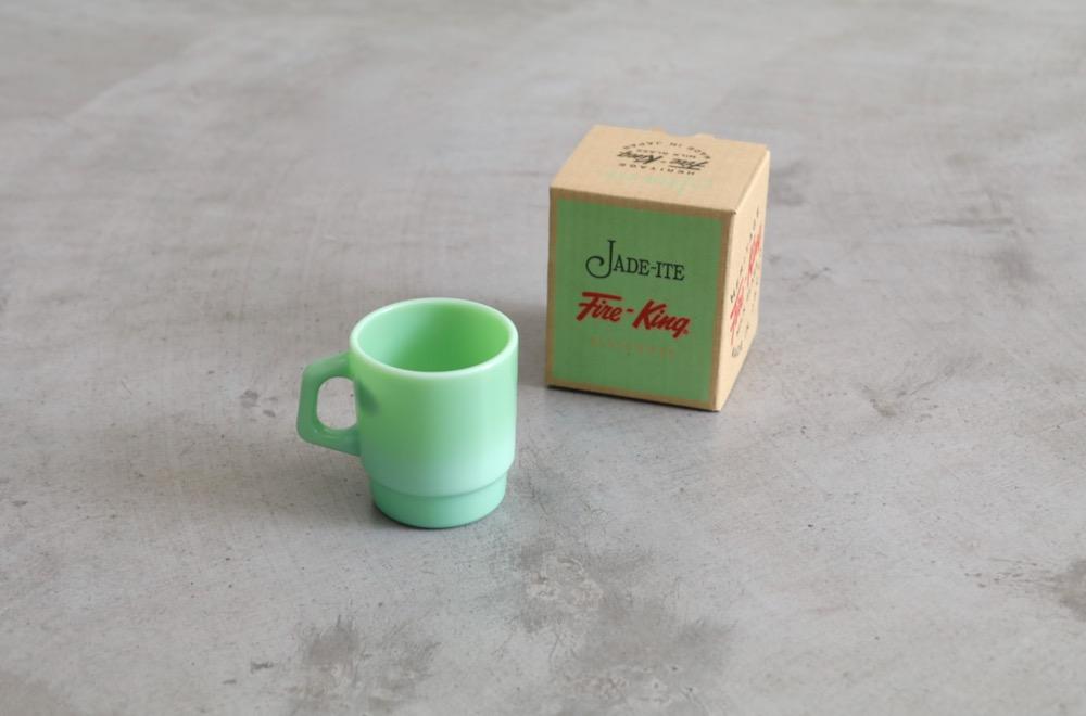 "Fire King (ファイヤー キング) ""Stacking Mug - jadeite -"""