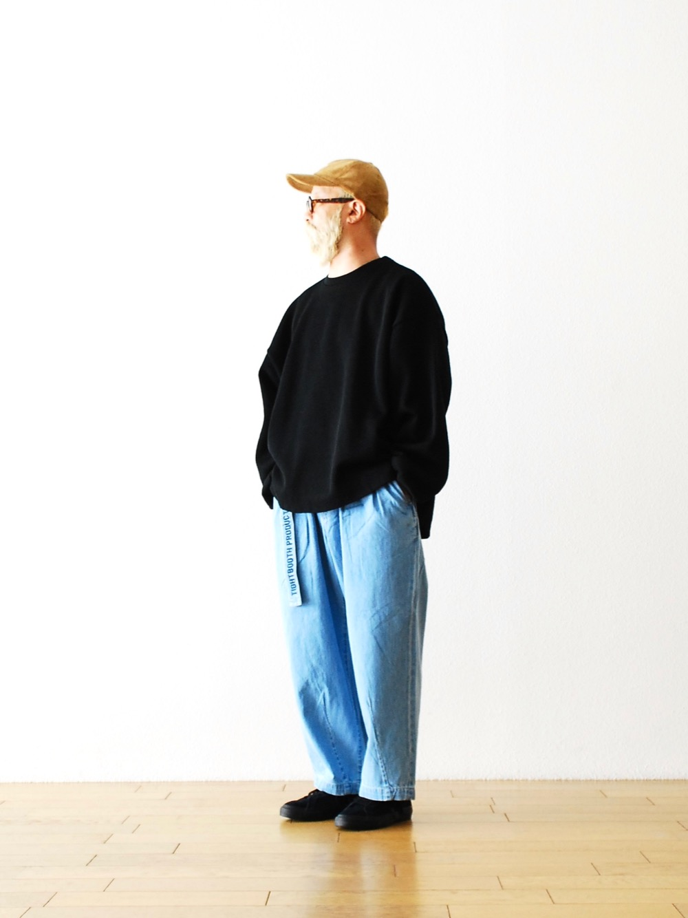 """TIGHTBOOTH PRODUCTION(タイトブースプロダクション) """"WAFFLE CREW KNIT"""""""