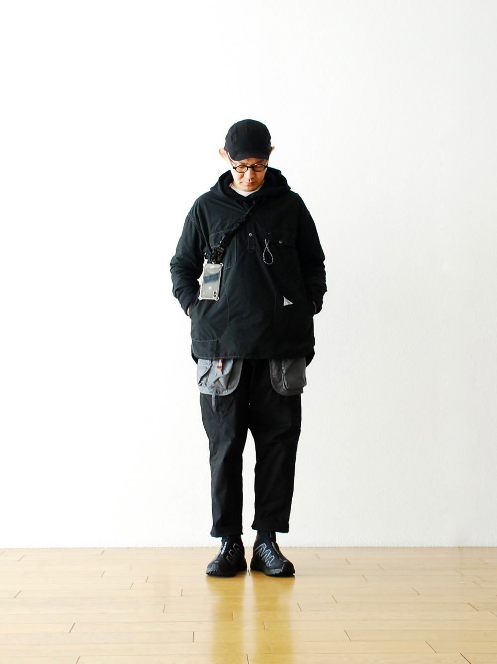 """[Limited]and wander × SALOMON (アンドワンダー × サロモン) """"reflective highcut sneakers by salomon"""""""