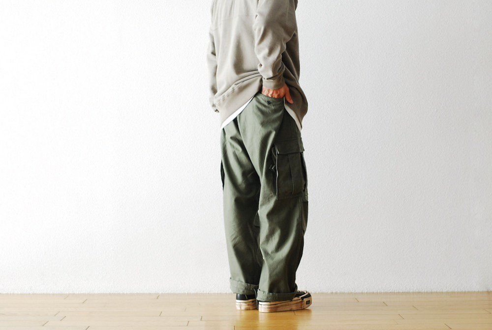 """Nigel Cabourn(ナイジェル ケーボン) """"ARMY CARGO PANT - SATEEN"""""""