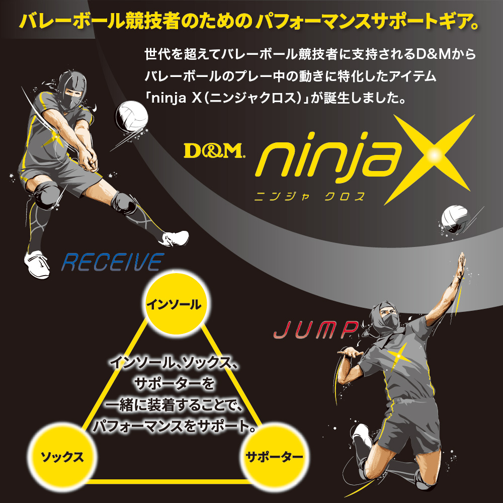 ninjaX バレーボール レシーブ レッグサポーター(1ペア入り)