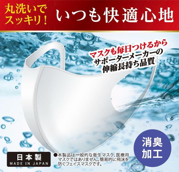 【生産完了品】サポーターメーカーの洗える伸縮マスク