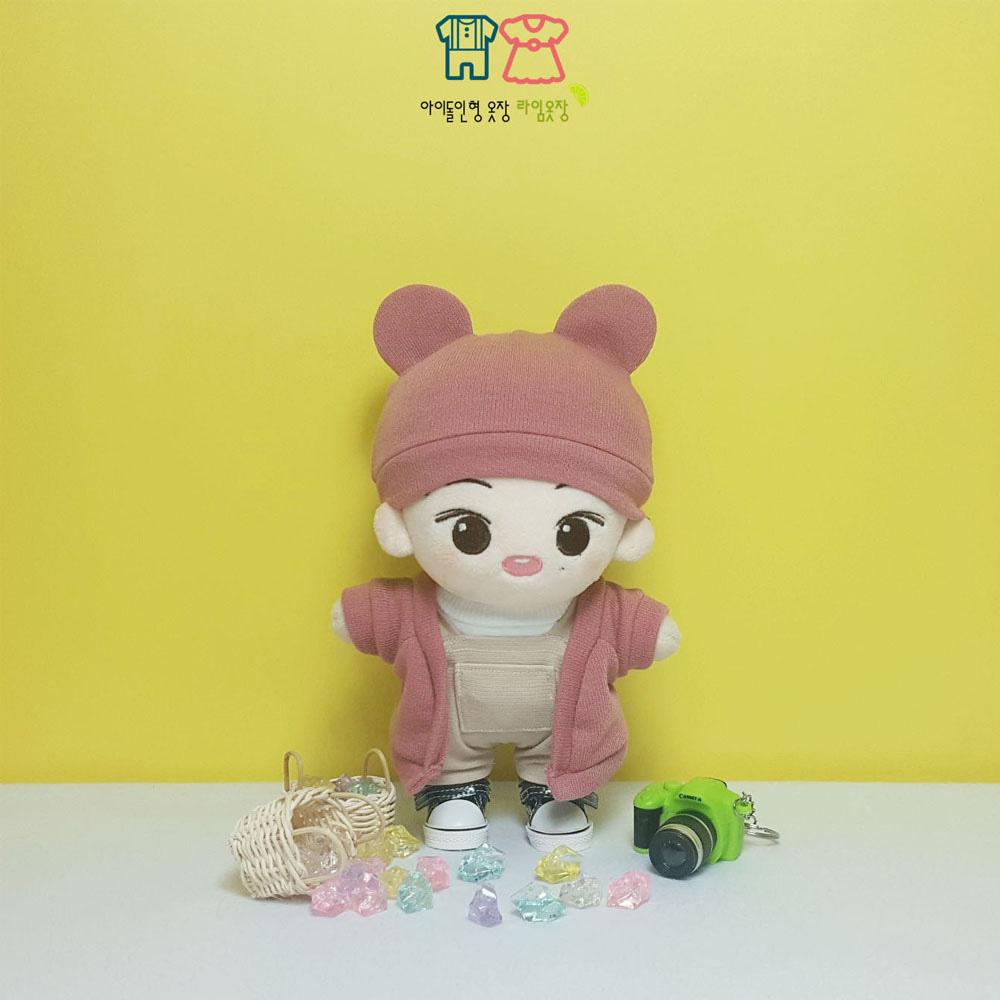 クマちゃんニット帽 ドール雑貨、人形、ぬいぐるみ服、ドール小物