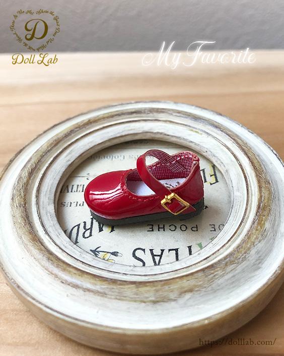 ドール シューズ エナメルシューズ(おでこ靴) (Meatmorphose)  赤 ブライス