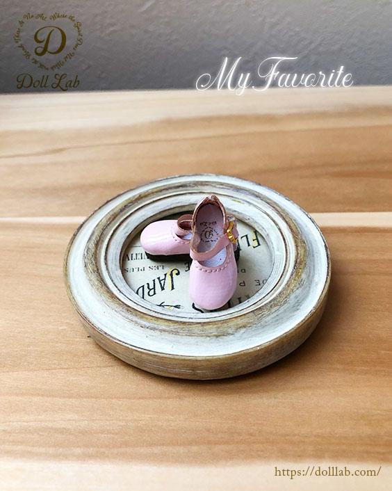 ドール シューズ エナメルシューズ(おでこ靴) (Meatmorphose)  ベビーピンク ブライス