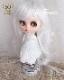 プリンセスシフォン ピュアホワイト[12inch] ドールウィッグ