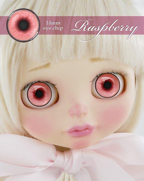 ガラスアイチップ ラズベリー[1/6ドール・14mmアイ対応ガラスアイチップ カスタム]Doll Lab(ドールラボ)