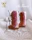布革の編み上げロングブーツ [ベビーピンク]ブライス 靴 本革