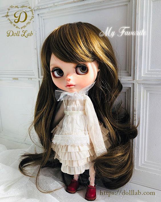 プリンセスシフォン ハニーブラウン[12inch] ドールウィッグ