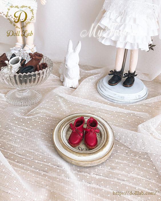 リボン革ブーツ [ブライス サイズ]赤