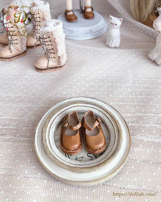 キャラメル ストラップシューズ [ブライス] ドール 靴 本革