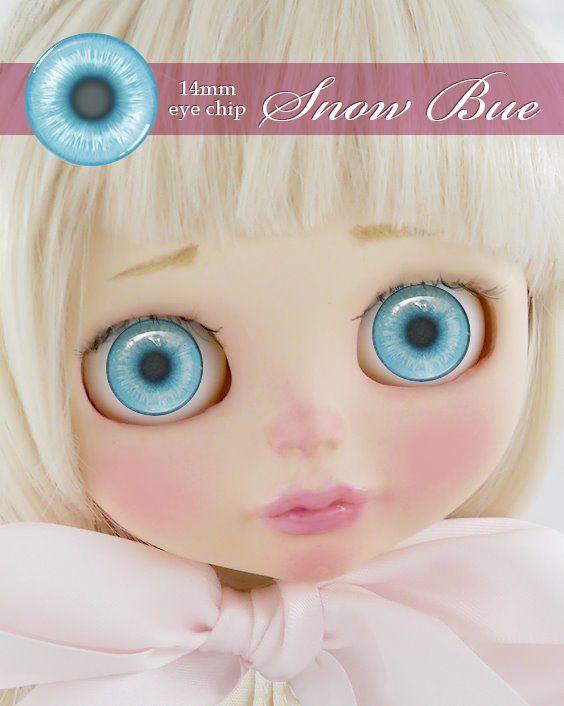 ガラスアイチップ スノーブルー[1/6ドール・14mmアイ対応ガラスアイチップ カスタム]Doll Lab(ドールラボ)