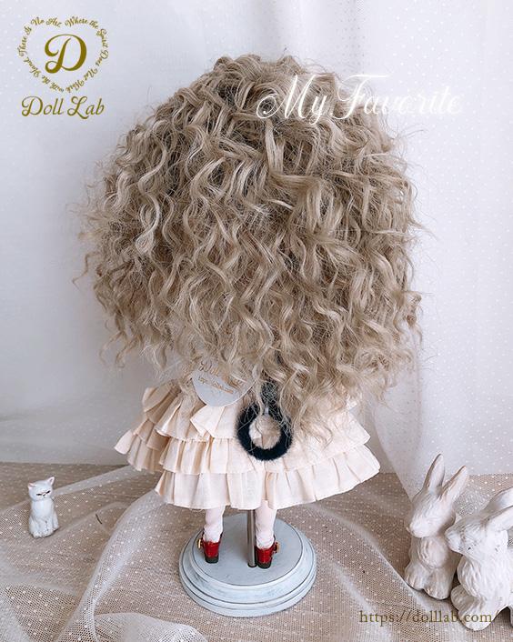 ウェービーシープ  天使の巻き毛 シルク繊維[10inch] カフェオレミルク