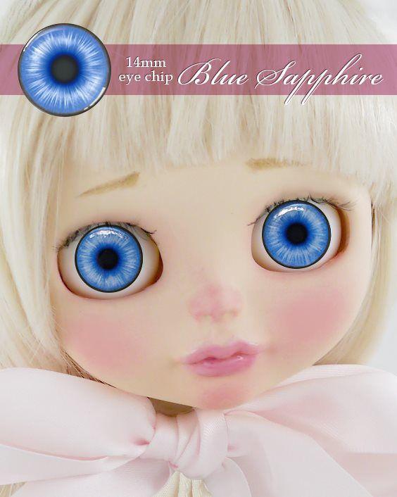 ガラスアイチップ ブルーサファイア[1/6ドール・14mmアイ対応ガラスアイチップ カスタム]Doll Lab(ドールラボ)
