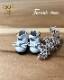 エナメルリボンシューズ [オビツ11 ob11 ミディブライス] ドール靴 【白】