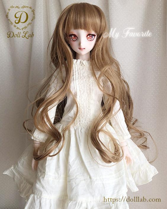 プリンセスシフォン ミルクティ【9inch】ドールウィッグ