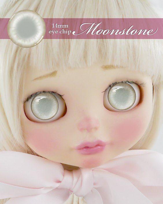 ガラスアイチップ ムーンストーン[1/6ドール・14mmアイ対応ガラスアイチップ カスタム]Doll Lab(ドールラボ)