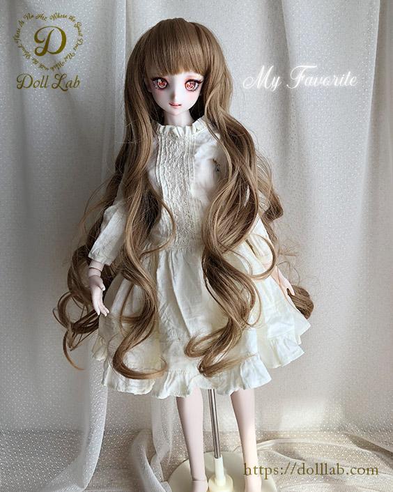 プリンセスシフォン ブラック【9inch】ドールウィッグ