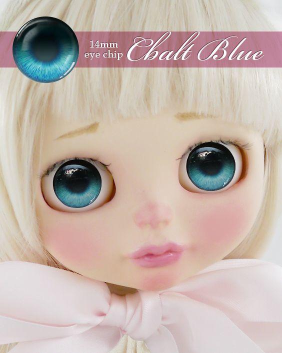 ガラスアイチップ コバルトブルー[1/6ドール・14mmアイ対応ガラスアイチップ カスタム]Doll Lab(ドールラボ)