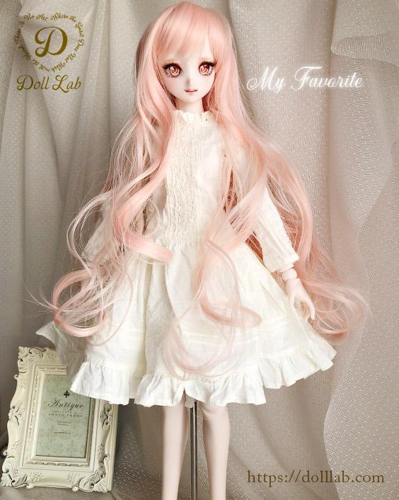 プリンセスシフォン ストロベリーミックス【9inch】ドールウィッグ