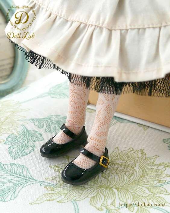 ドール 靴 エナメルストラップシューズ [ブライス] 黒