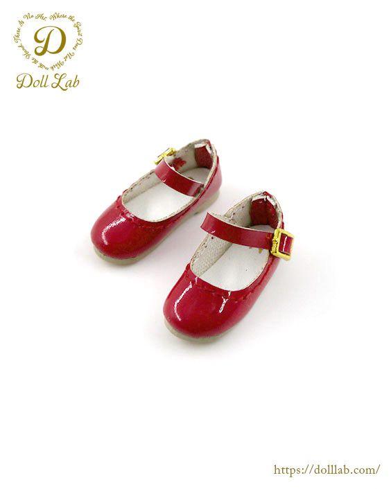 ドール 靴 エナメルストラップシューズ [ブライス]レッド
