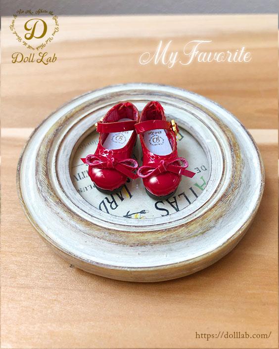 ドール シューズ エナメルリボン靴 (Sofia) ソフィア 赤 ブライス
