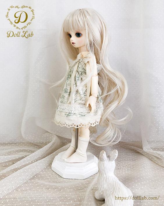 幼SD MSD 【6〜7inch】 ドールウィッグ プリンセスシフォン 象牙