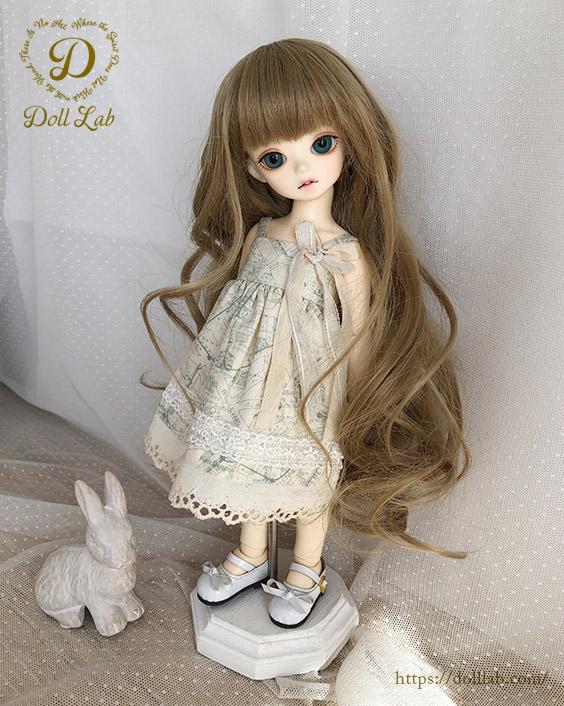 幼SD MSD 【6〜7inch】 ドールウィッグ プリンセスシフォン マロン