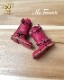 ドール 靴 本革 エンジニアブーツ [ブライス]レッド