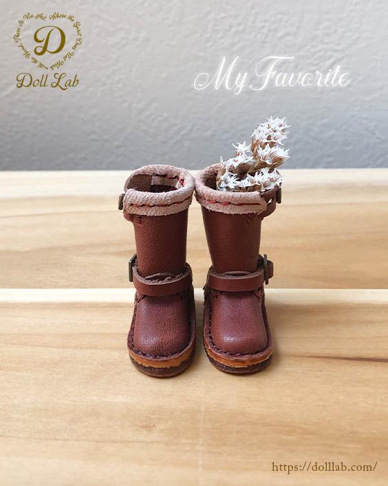 ドール 靴 本革 エンジニアブーツ [ブライス]チョコブラウン