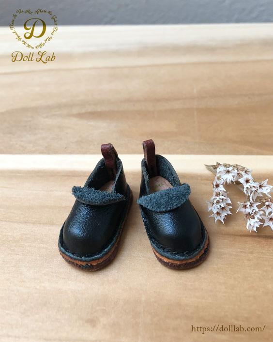 ドール 靴 本革 パンシューズ [ブライス]黒