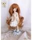 幼SD MSD 【6〜7inch】 ドール ウィッグ プリンセスシフォン A016 オレンジブラウン