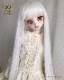 シルクストレート ピュアホワイト【9〜10inch】sd/dd ドール ウィッグ