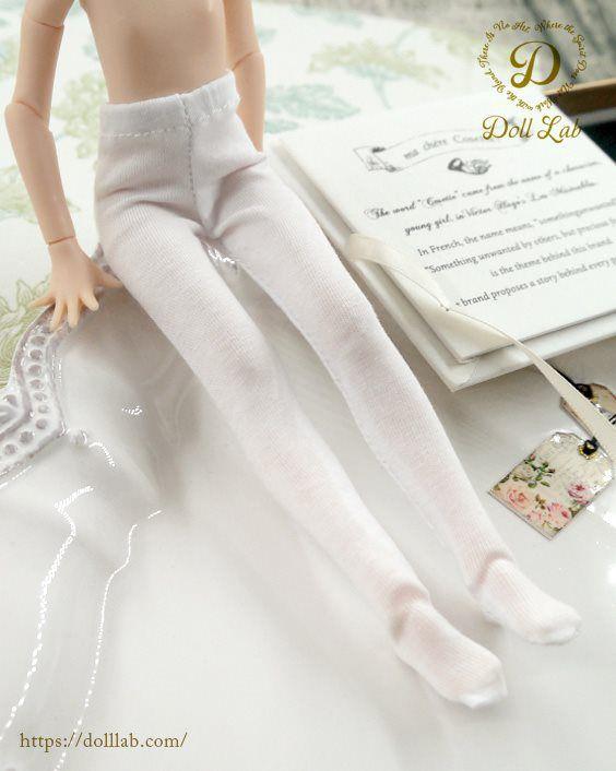 タイツ ホワイト[1/6・22cm対応 ドールインナー アウトフィット 靴下 カスタム]Doll Lab(ドールラボ)