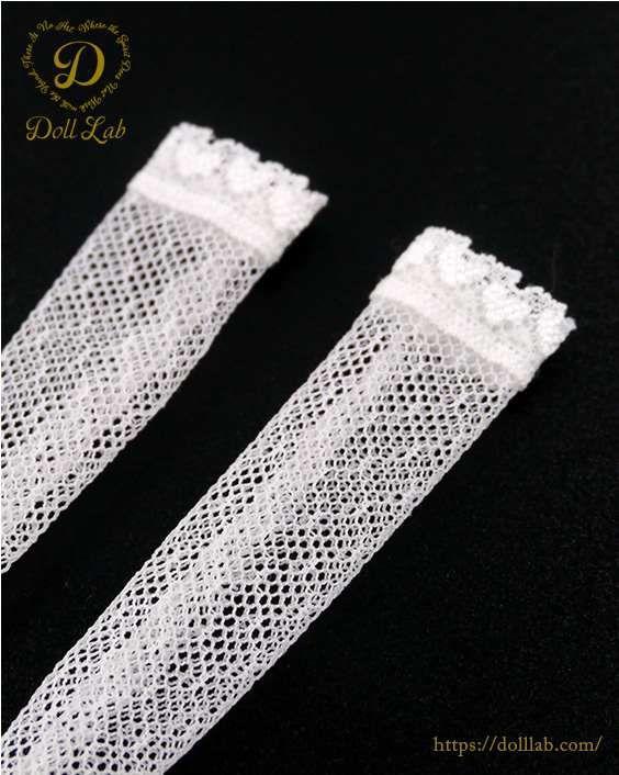 レースニーハイソックス[1/6・22cm対応 ドールインナー 靴下 カスタム]Doll Lab(ドールラボ)