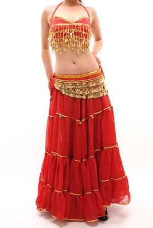 ベリーダンス衣装コインブラと720度ジプシースカート2点セット品番SL-005