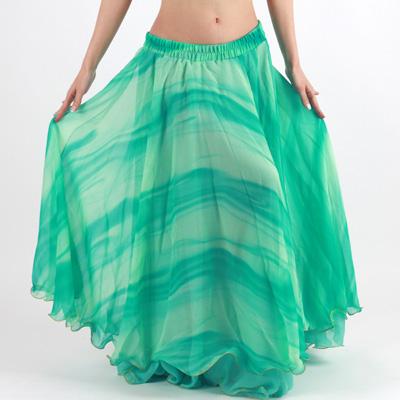 グラデーションシフォンフレアースカート360度、品番VS-033
