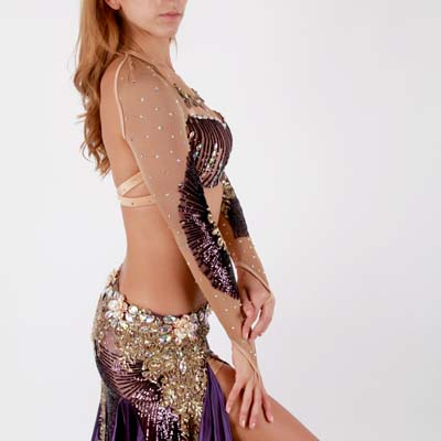 大人気!品番OB-197プリンセスタイルのベリーダンス衣装